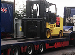 Hoist forklift no semi low loader